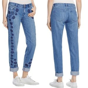 Michael Kors Embroided Floral Jeans